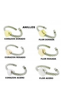 Outlet Anillo Fino Con Corazon ó Flor
