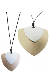 Bisuteria Collar Con Doble Chapon Triangular