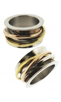 Anillo Tricolor Dama Antiestress